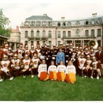 USC Trojan Marching Band with Laura Bush in Austria