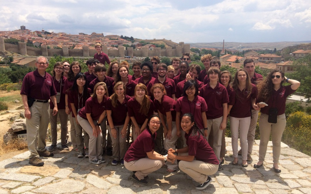 Indian Springs School Chamber Choir in Spain