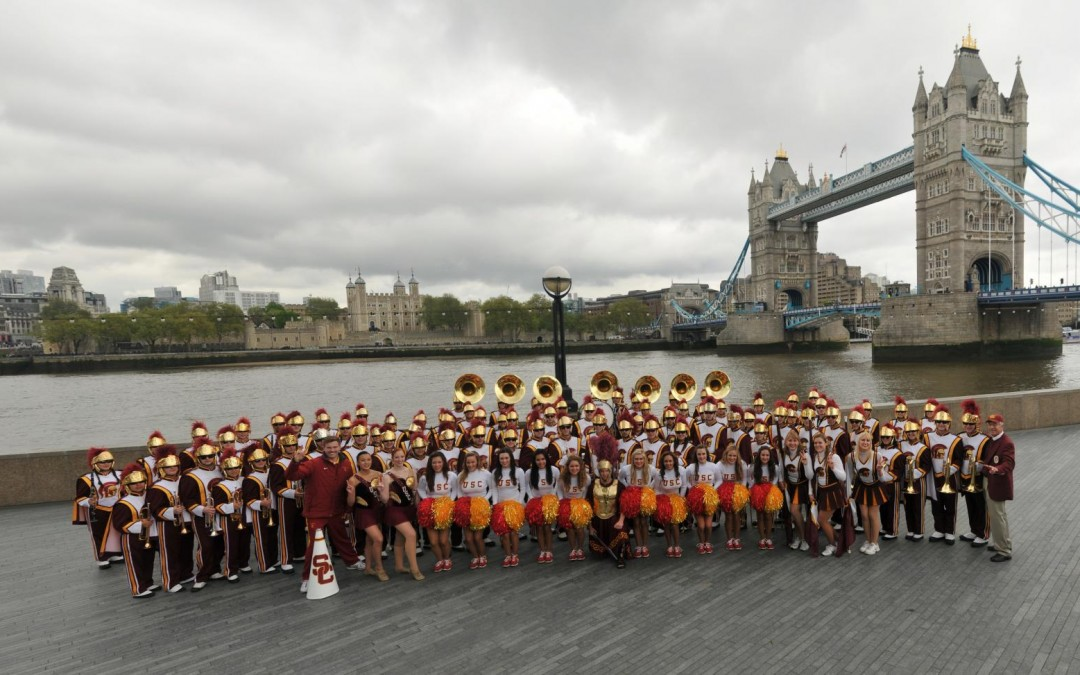 USC Trojan Band in London