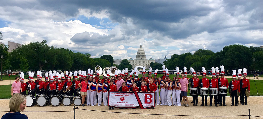 Beechwood High School Band Marches in DC