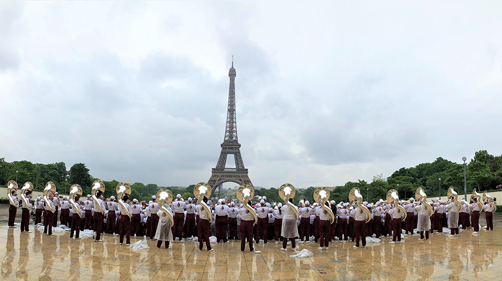 The FSU Marching Chiefs Tour France