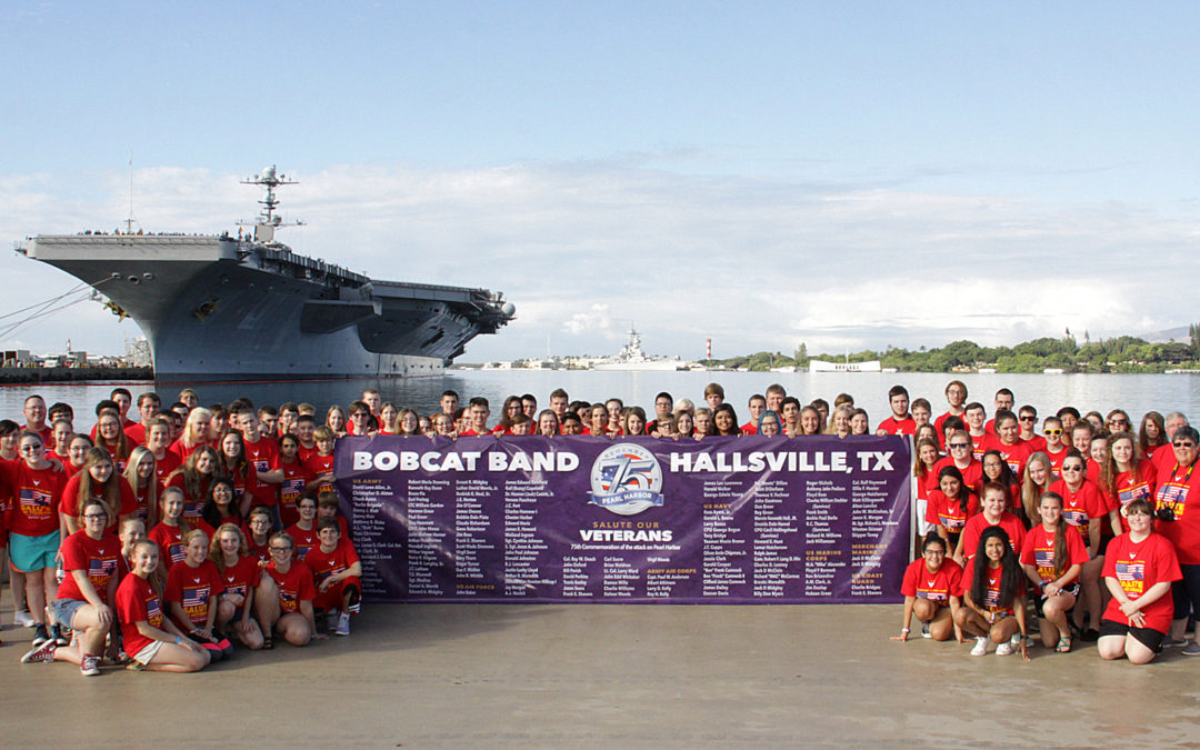 Hallsville High School Band Honors Pearl Harbor Survivors