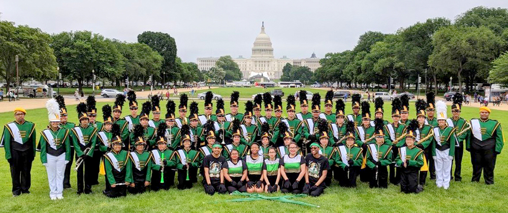 The Kelly High School Marching Band Marches in DC