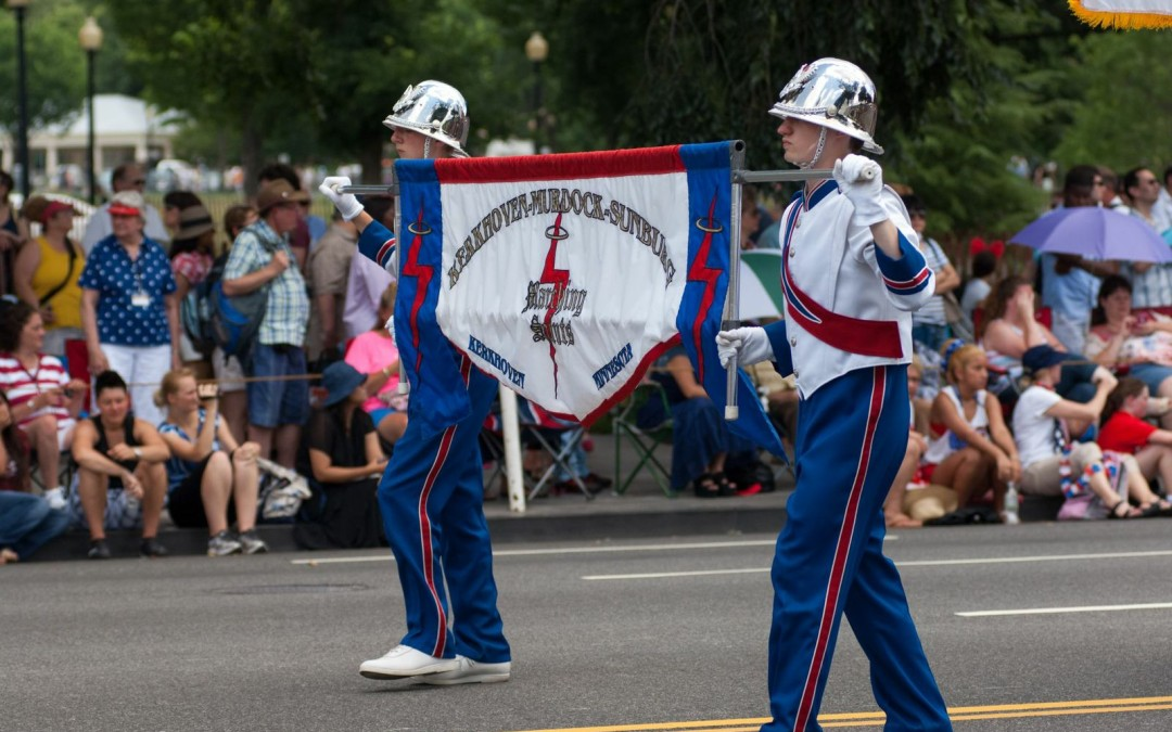 Kerkhoven-Murdock-Sunburg Marching Saints Experienced the Thrill of Marching in the National Independence Day Parade