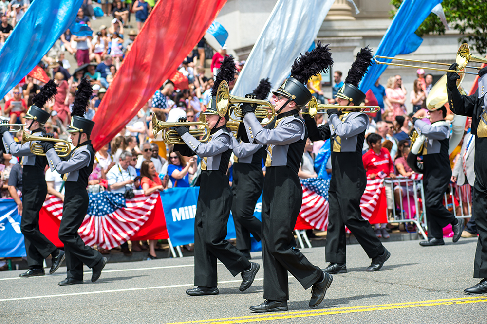 Loretto High School Band Marches in DC