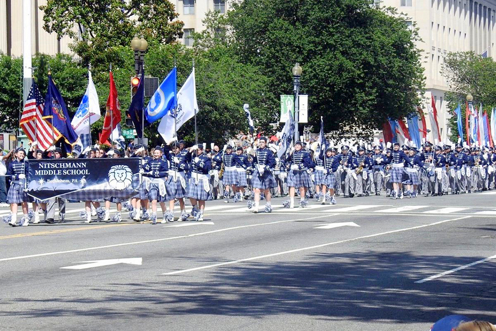 Nitschmann Middle School Band Marches in DC