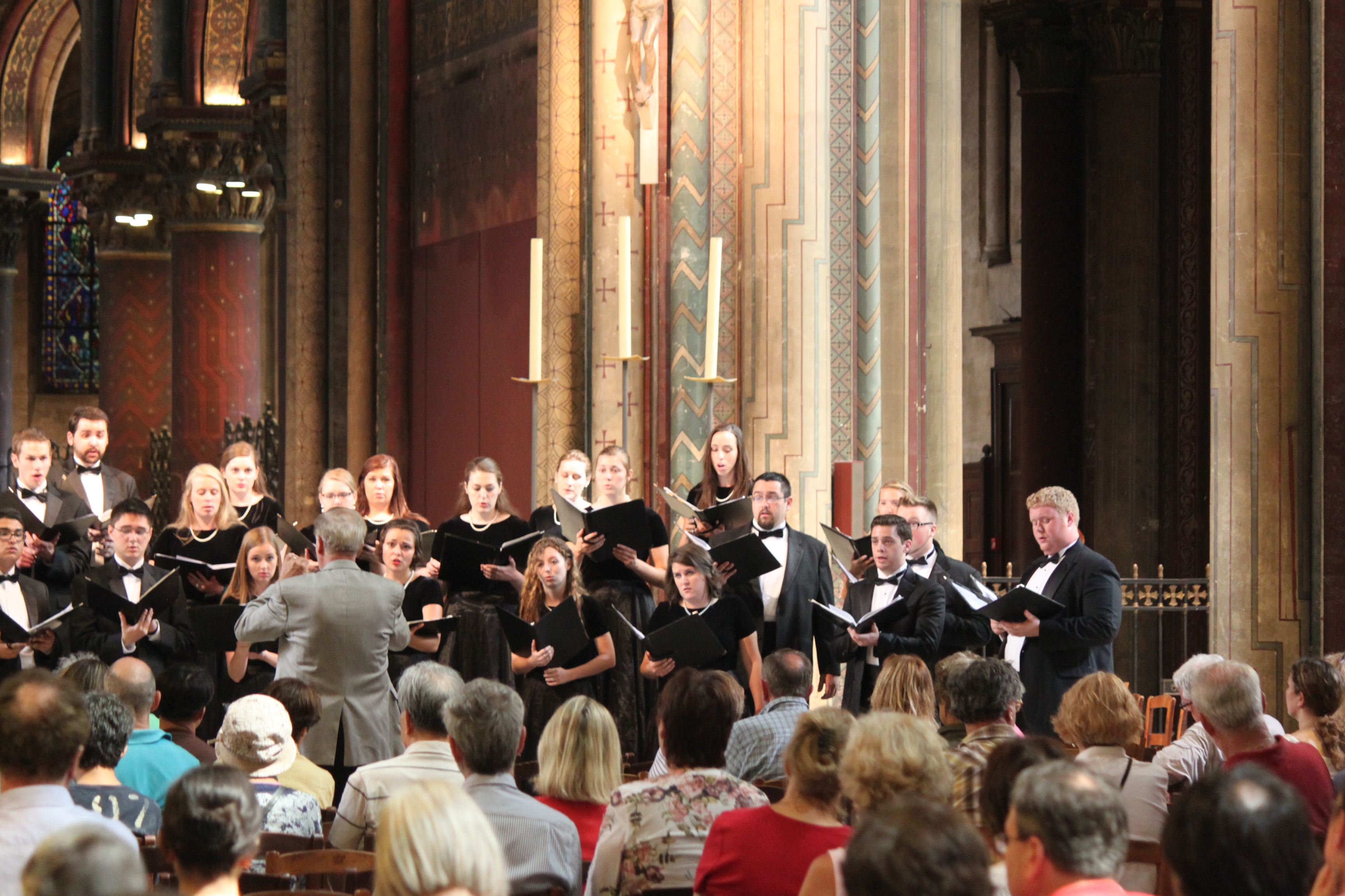 Oklahoma Oklahoma State University Concert Chorale performance at St-Germain-des-Prés in Paris, France (2013)