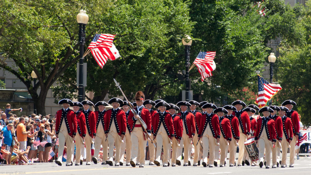 Revolutionary War Marchers - National Independence Day Parade