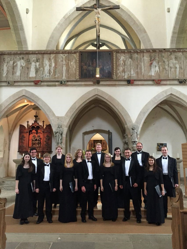 Shippensburg University Madrigal Singers at the Franziskanerkirche in Rothenburg