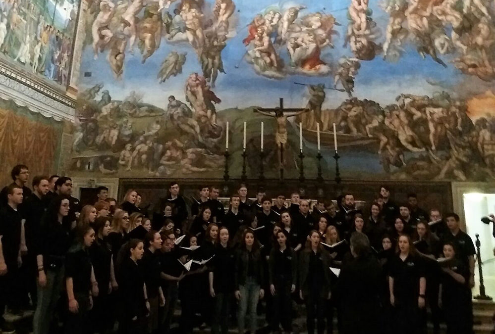 The UConn Choirs Sing in the Sistine Chapel!