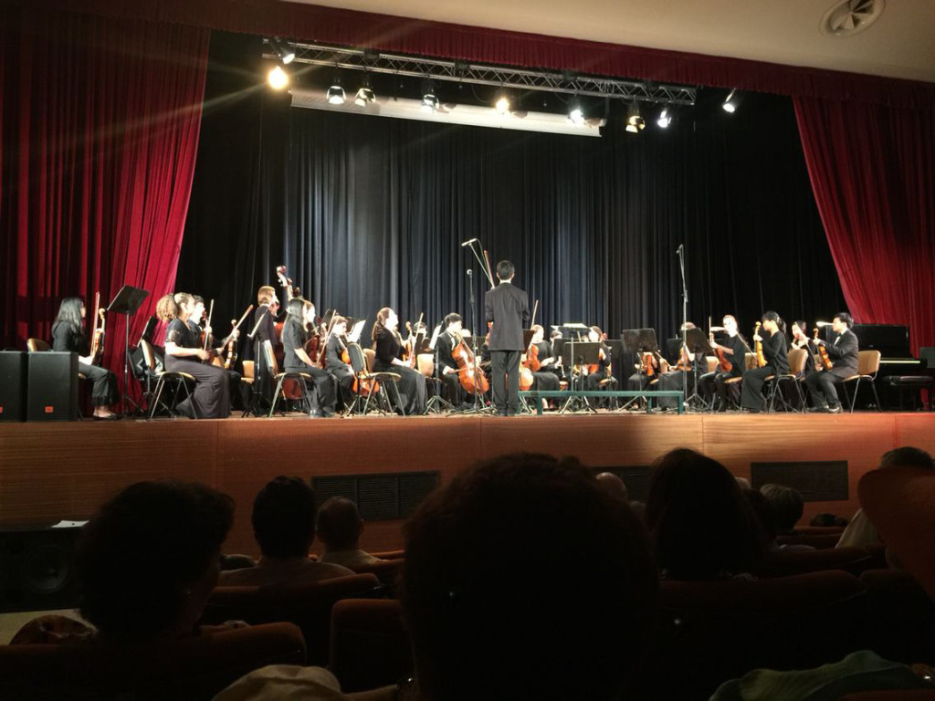 South Coast Youth Orchestra performing in Greece